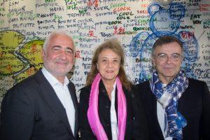 Guy Savoy, Véronique Grange-Spahis et Fabrice Hyber